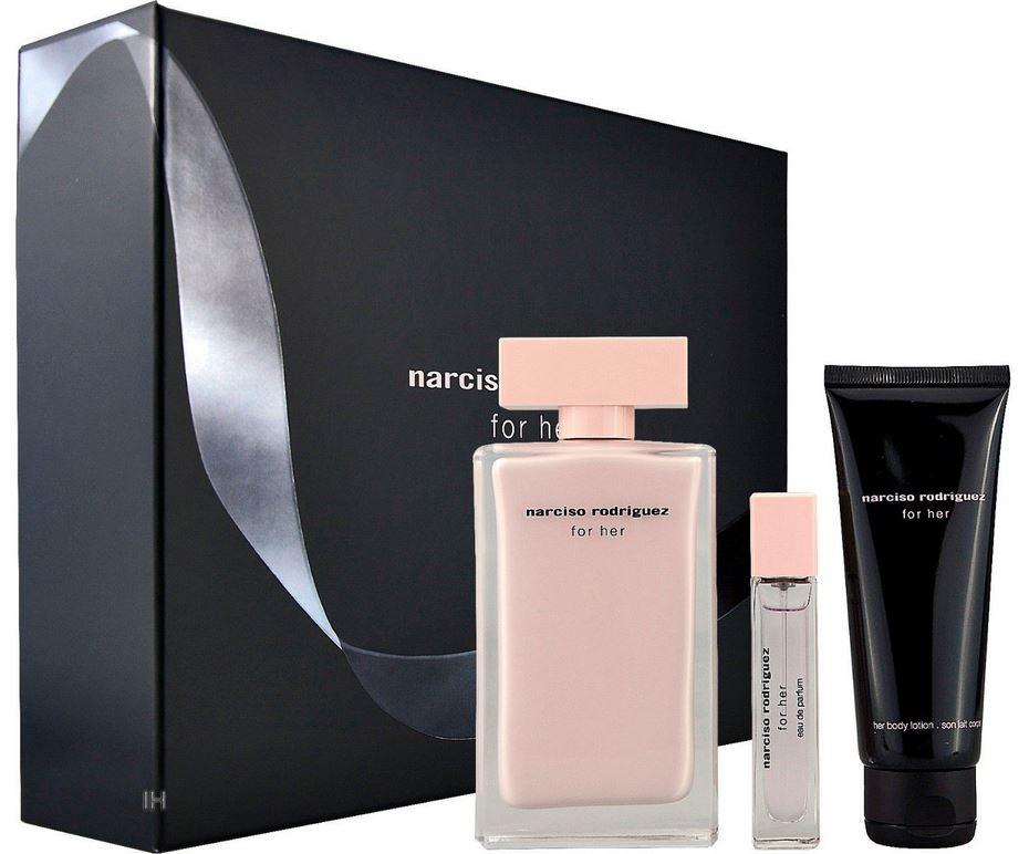 Narciso Rodriguez For Her 100ml Eau De Parfum + 75ml Bodylotion + 10ml Eau De Parfum Eau De Parfum G