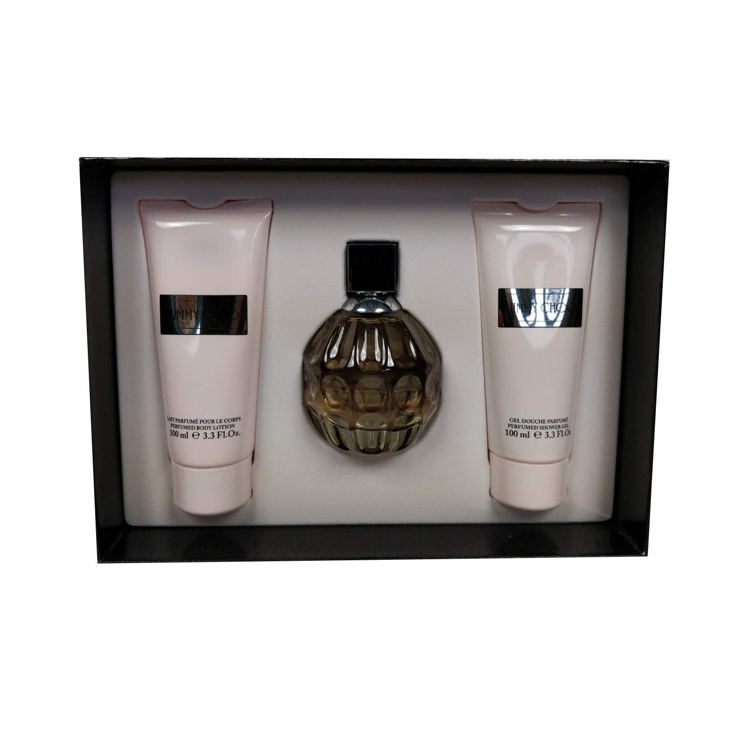 Jimmy Choo Women 100ml Eau De Parfum + 100ml Bodylotion + 100ml Showergel Eau De Parfum Giftset