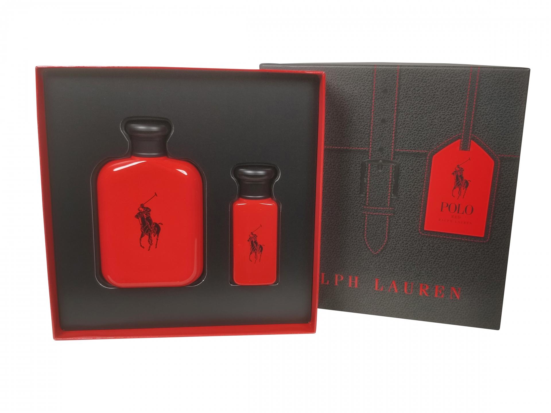 Image of Ralph Lauren - Polo Red 125ml Eau De Toilette + 30ml Eau De Toilette Eau De Toilette - Giftset