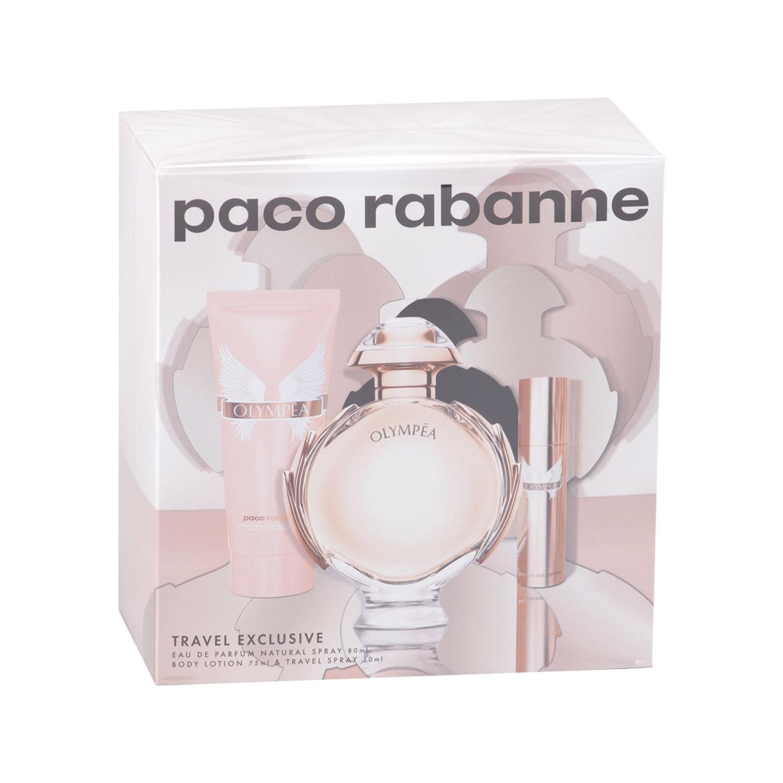 Paco Rabanne Olympea 80ml Eau De Parfum + 10ml Eau De Parfum + 75ml Bodylotion Eau De Parfum Giftset